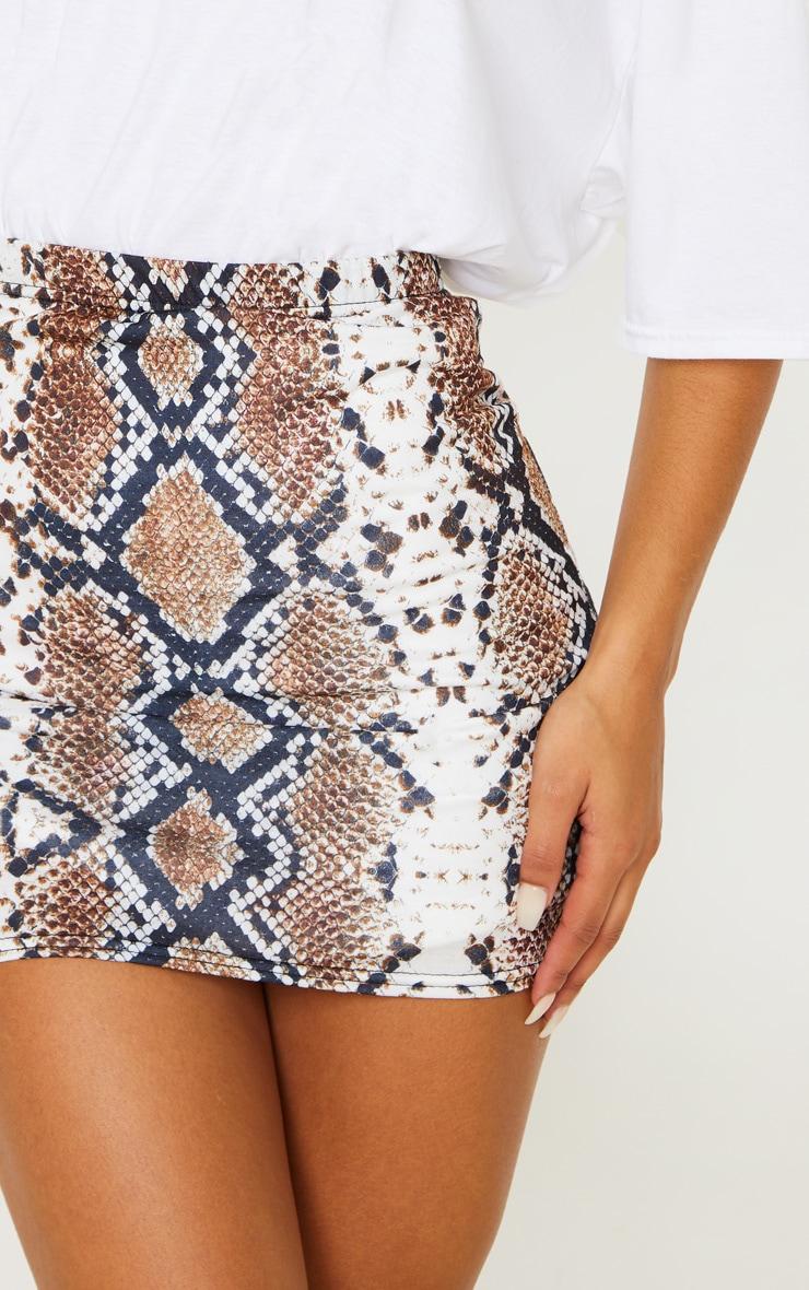 Cloressa Snake Print Mini Skirt 6