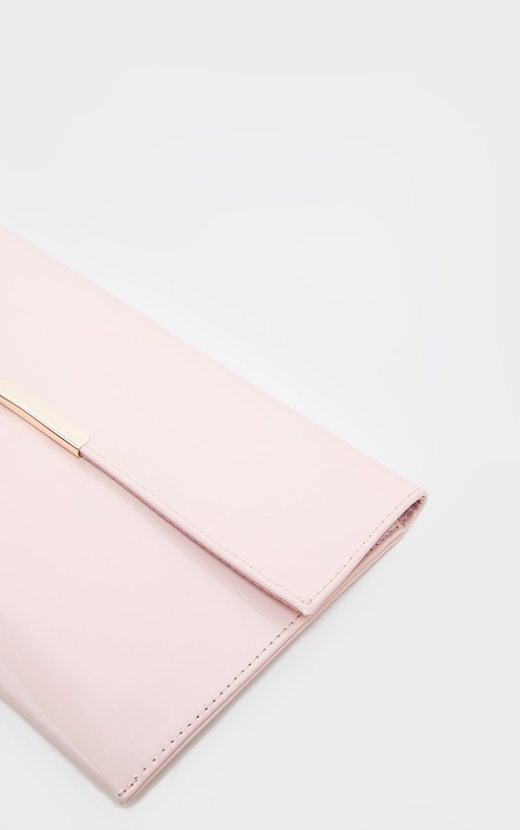 Light Pink Basic Clutch Bag 3