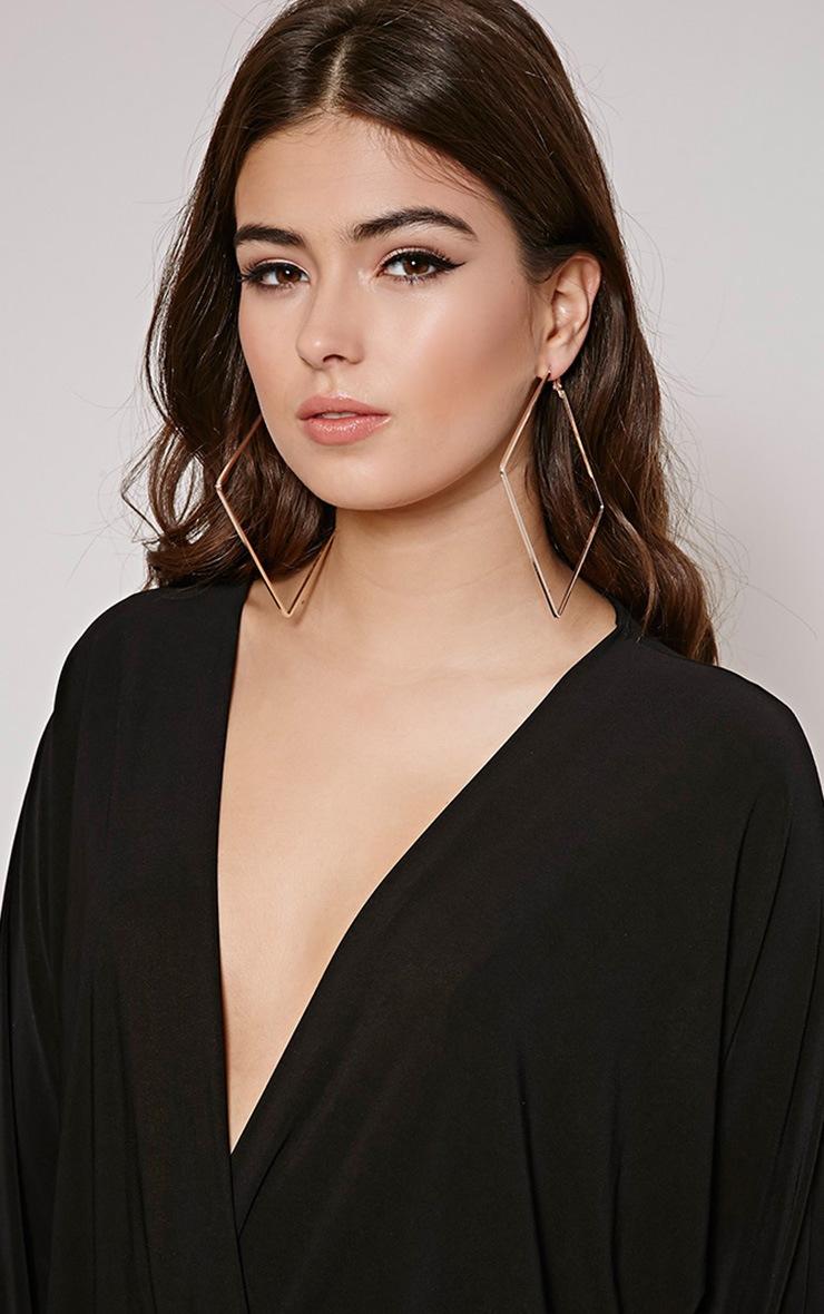 Tari Rose Gold Square Earrings 2