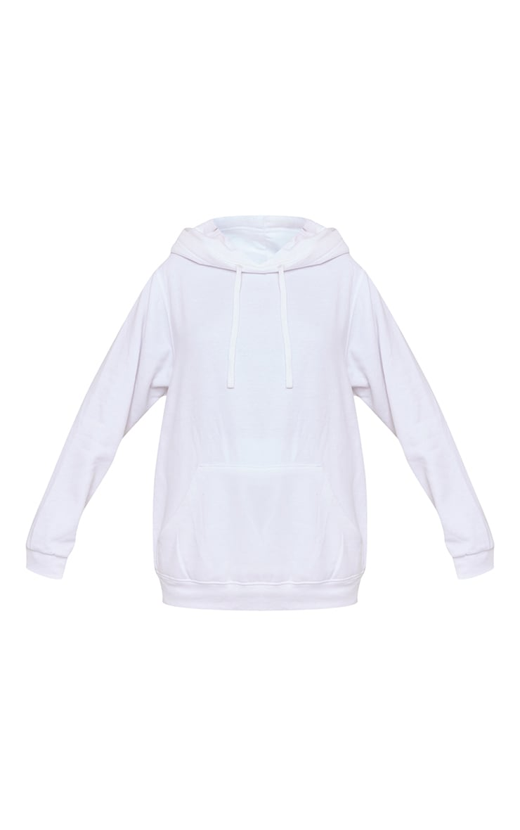 Recycled White Oversized Sweat Hoodie 5