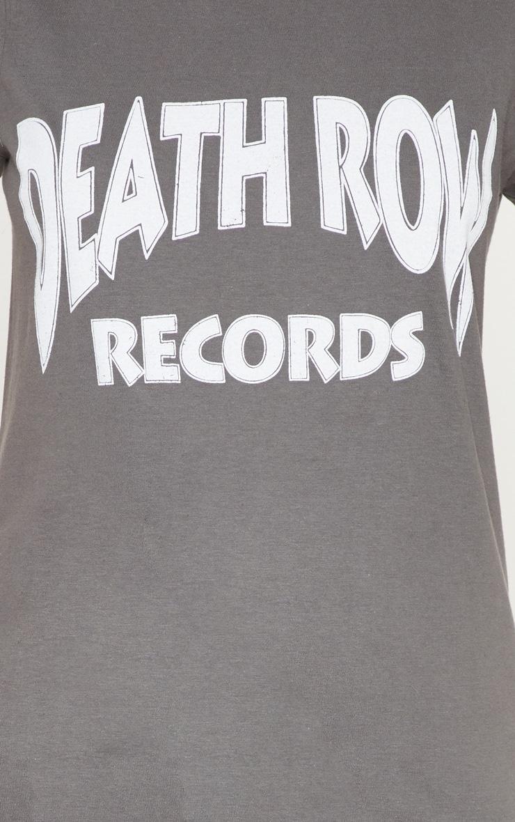 Charcoal Slogan Death Row T Shirt 5