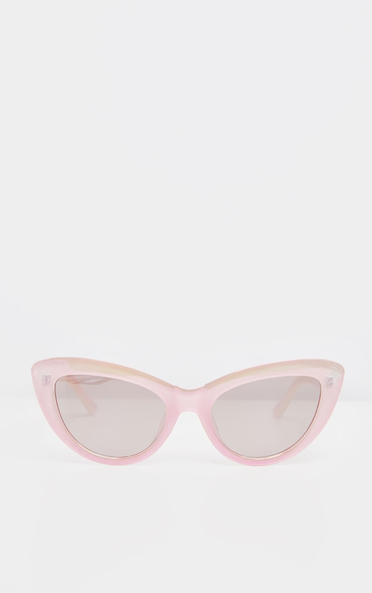 Pink Holographic Lens Cateye Sunglasses    3