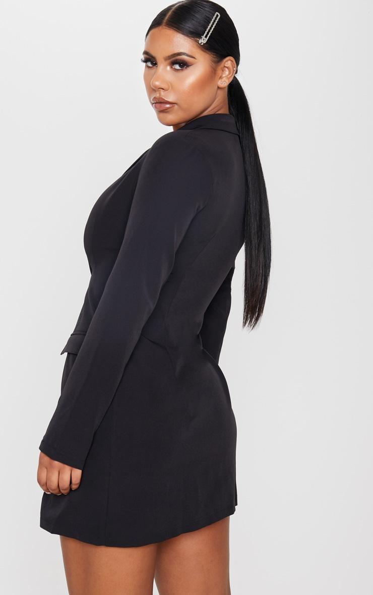 Black Tie Detail Blazer Dress 2