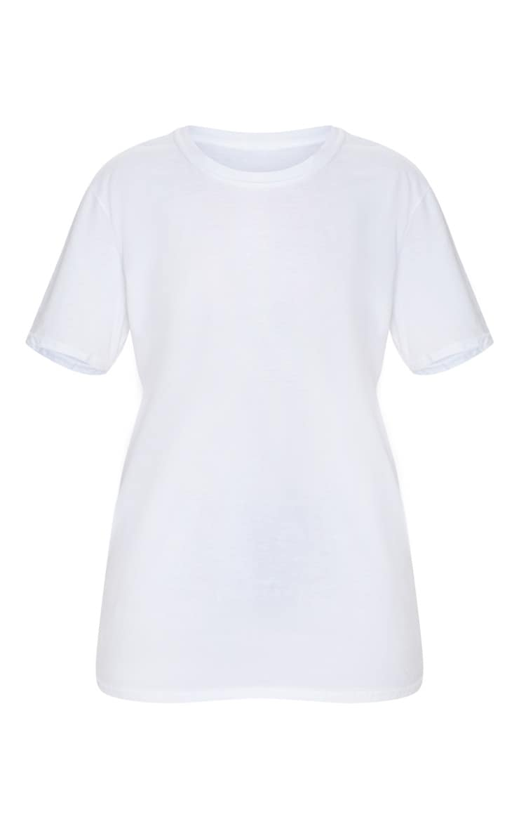 White 1980 World Tour Slogan Oversized T Shirt 1