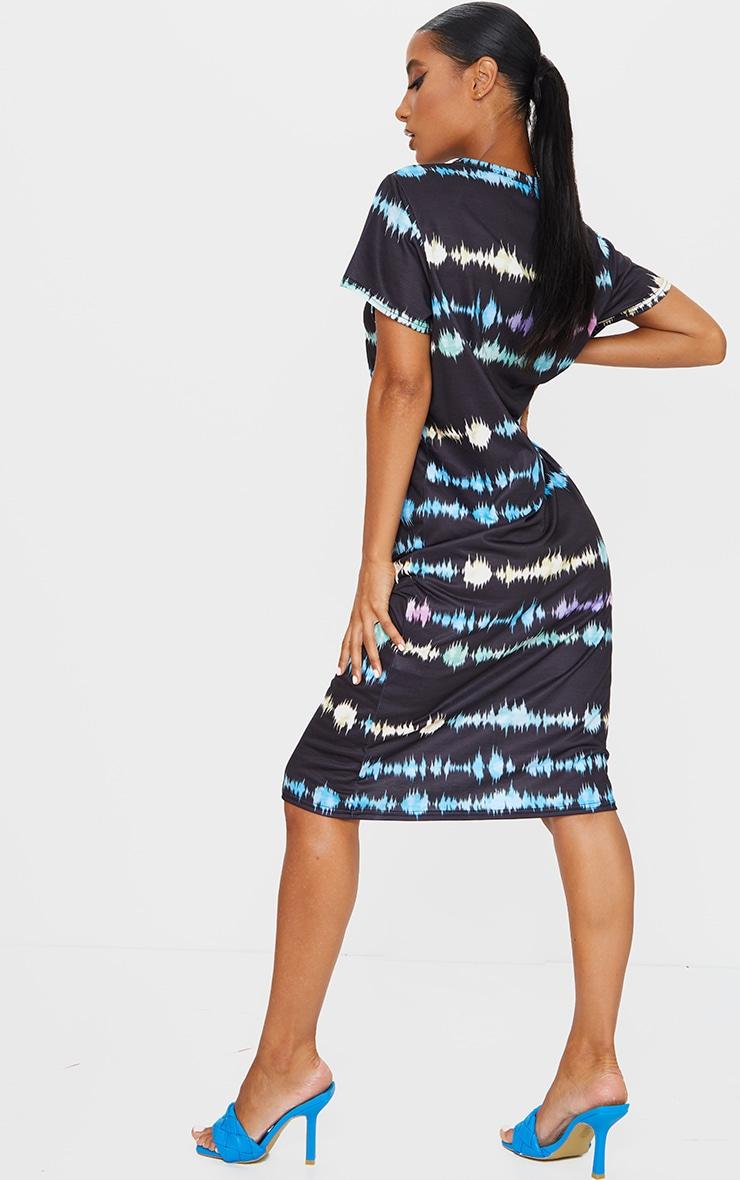 Multi Print Tie Dye Print Midi T Shirt Dress 2
