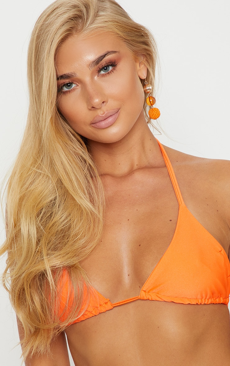 Orange Mix & Match Triangle Bikini Top 5