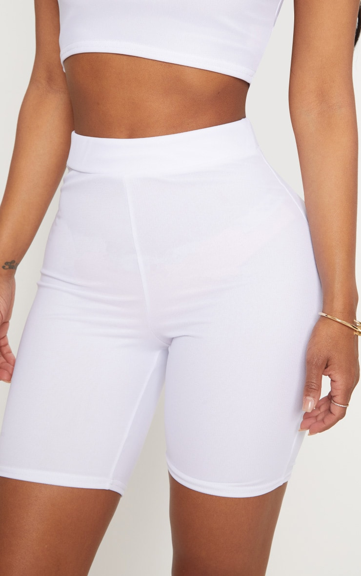Shape - Short legging en mesh blanc 5