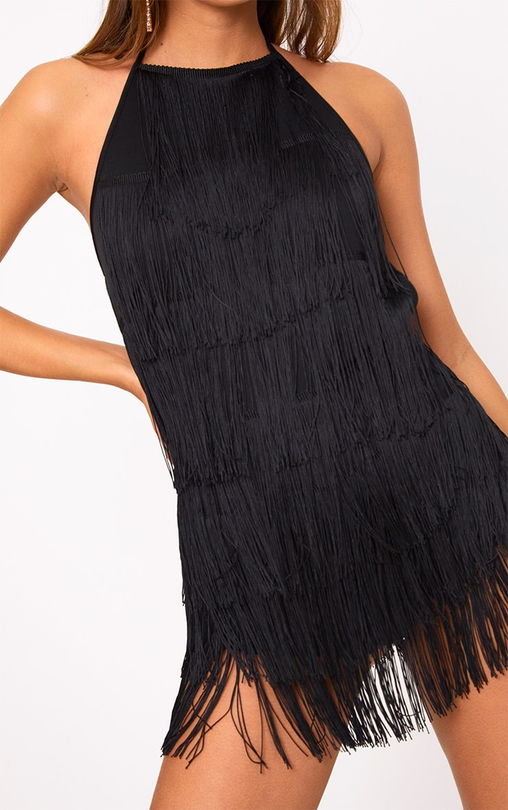Kristine Black Tassel Playsuit  5