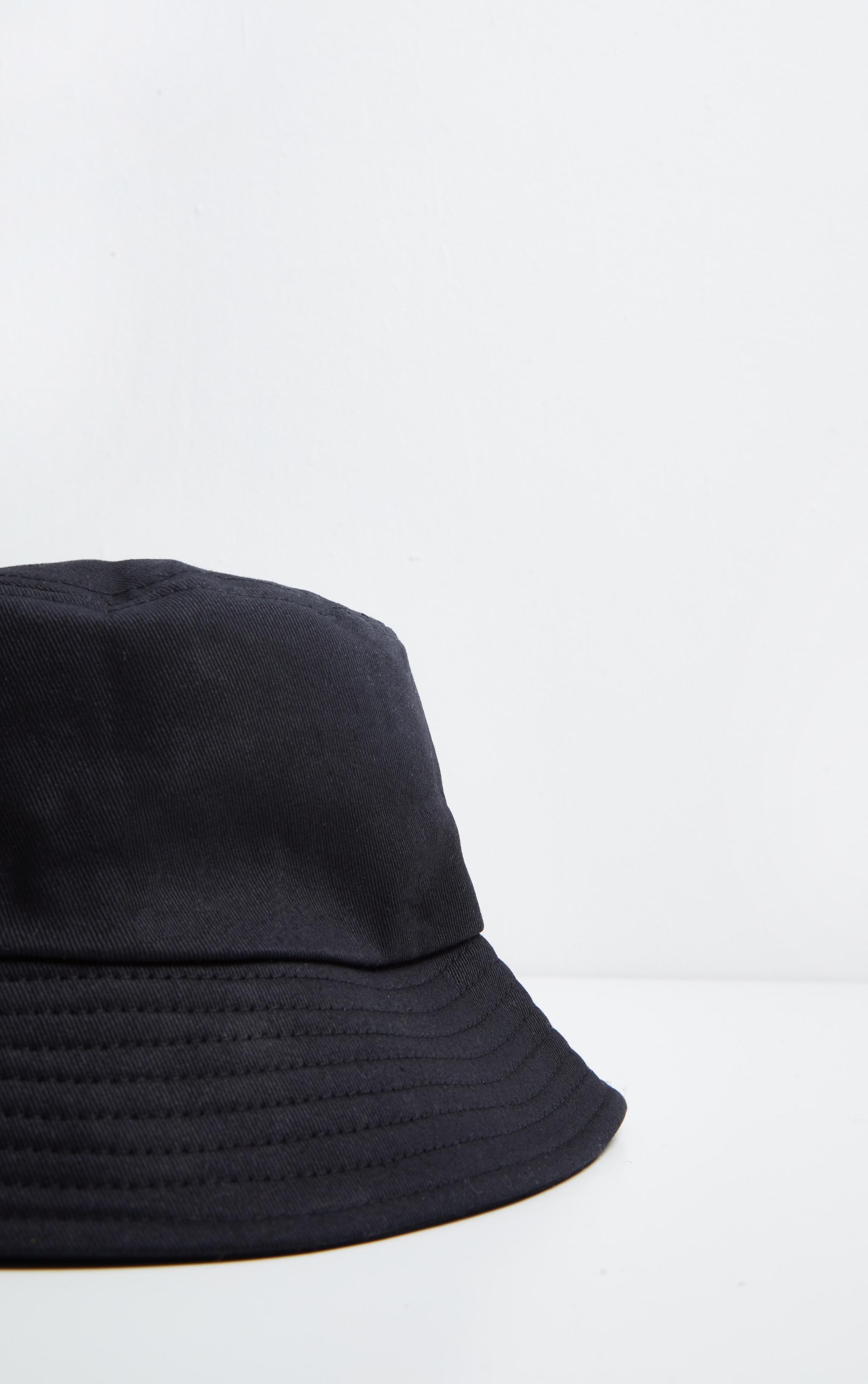 Plain Black Bucket Hat 3