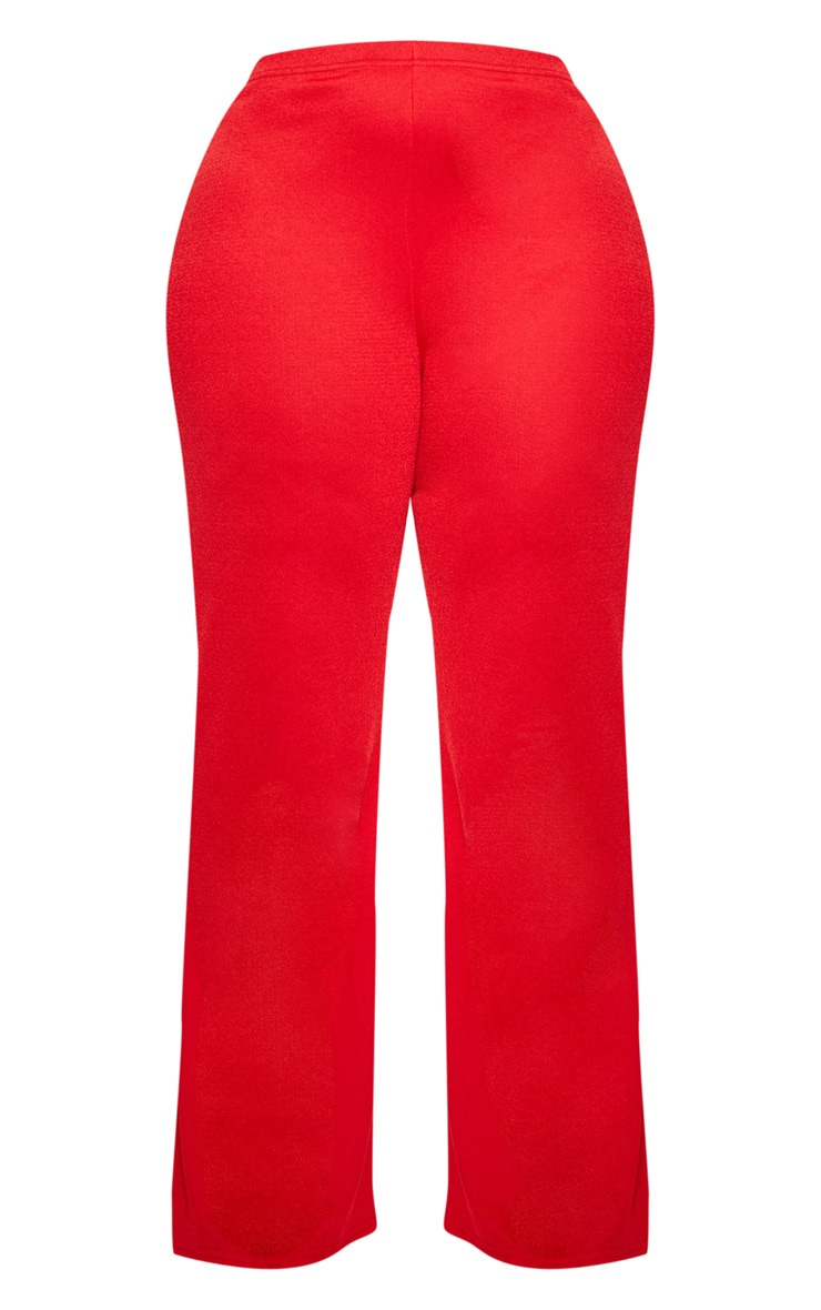 Plus Red Wide Leg Trouser  3