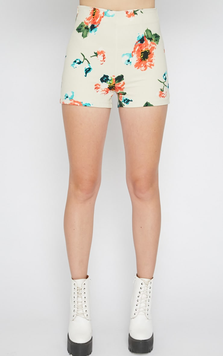 Marianne Cream Floral Short  4