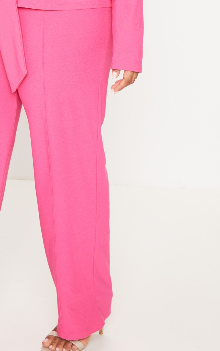 Plus Hot Pink High Waisted Wide Leg Trousers 5