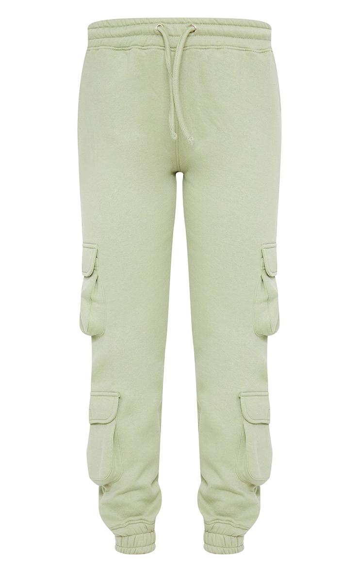 Sage Green Pocket Detail Joggers 5