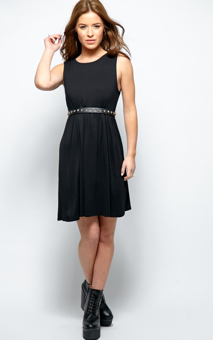 Kirsten Black Sleeveless Smock Dress 4