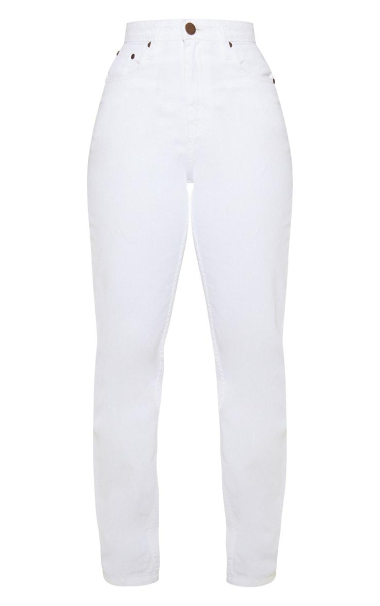 Petite White Straight Leg Jeans 3