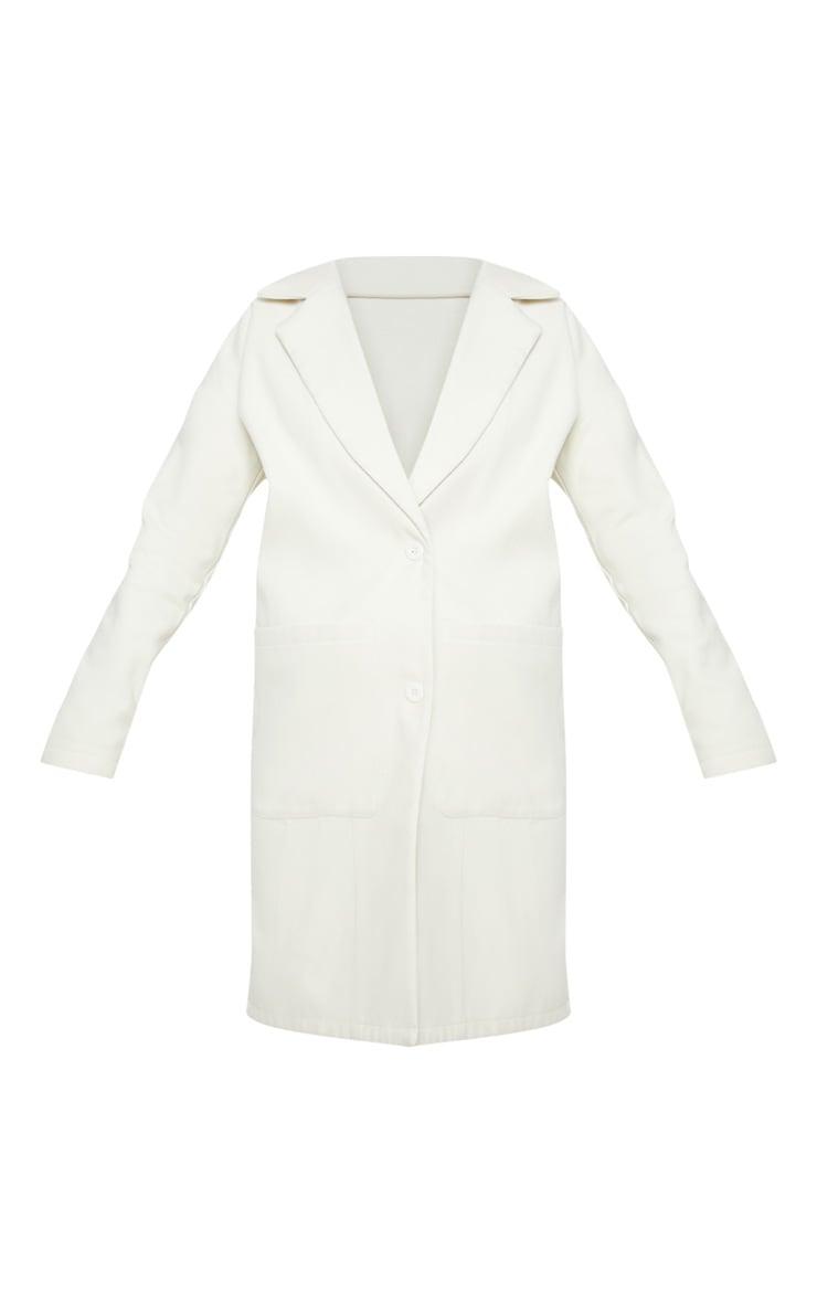 Cream Midi Coat  3