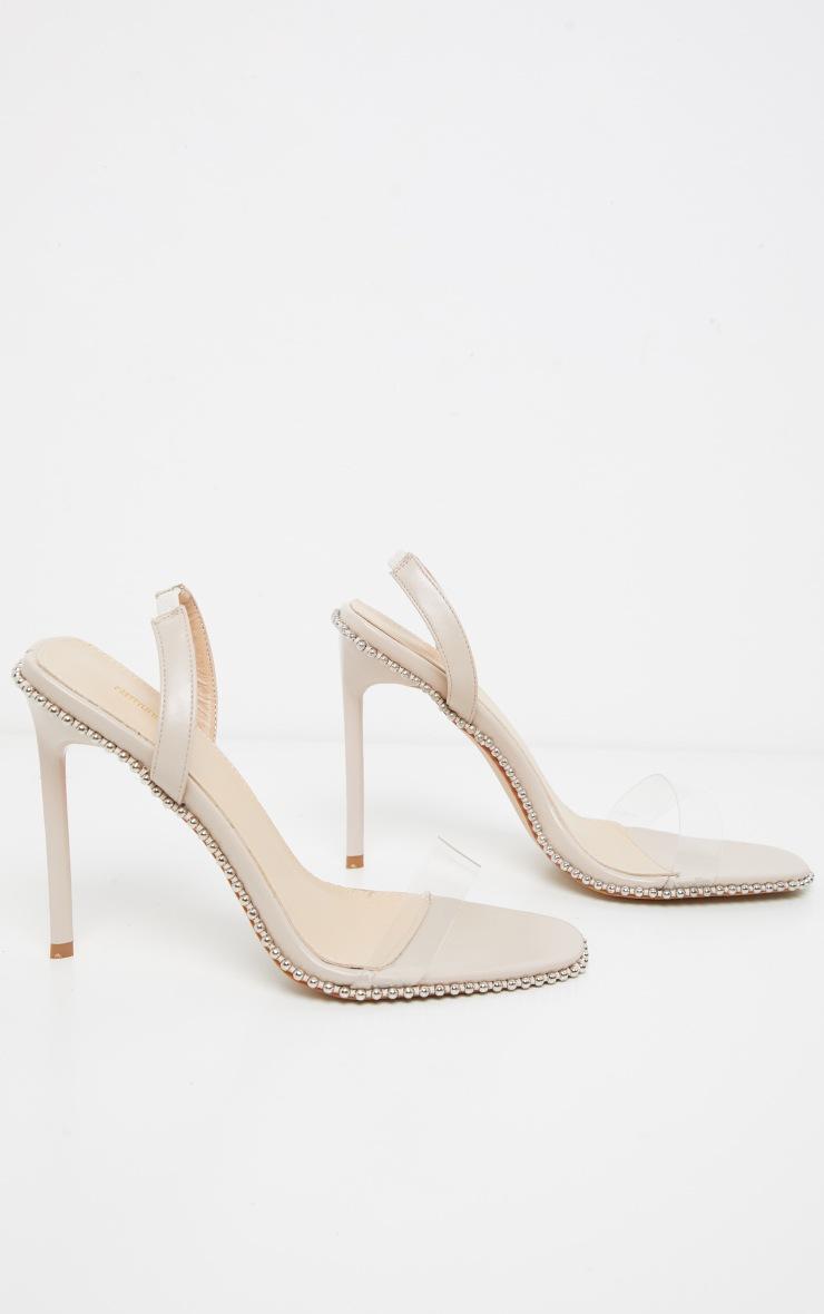 Nude Slingback Clear Studded Sandal 3