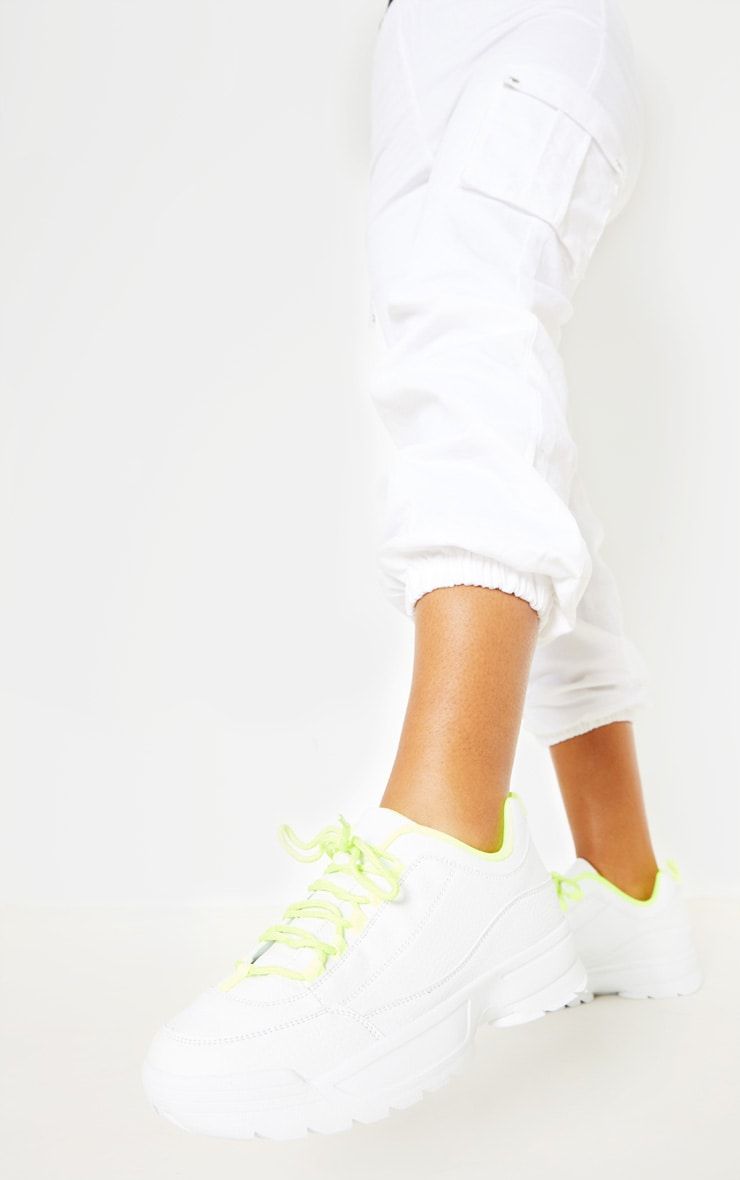 Neon Lime Chunky Cleated Sole Sneaker 2