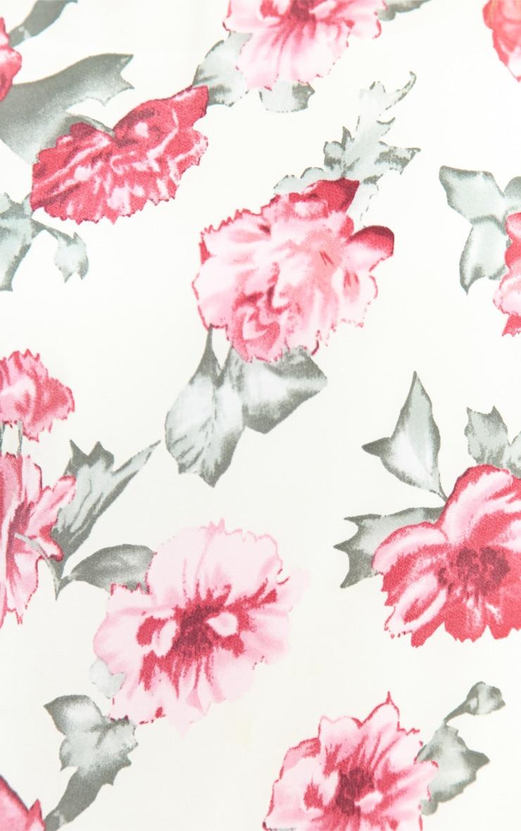 Sasha Cream & Pink Floral Shift Dress 5