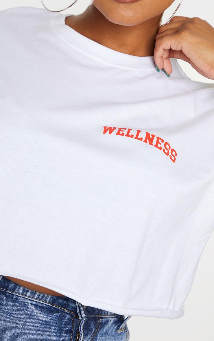 Plus Wellness White Cropped T Shirt 4