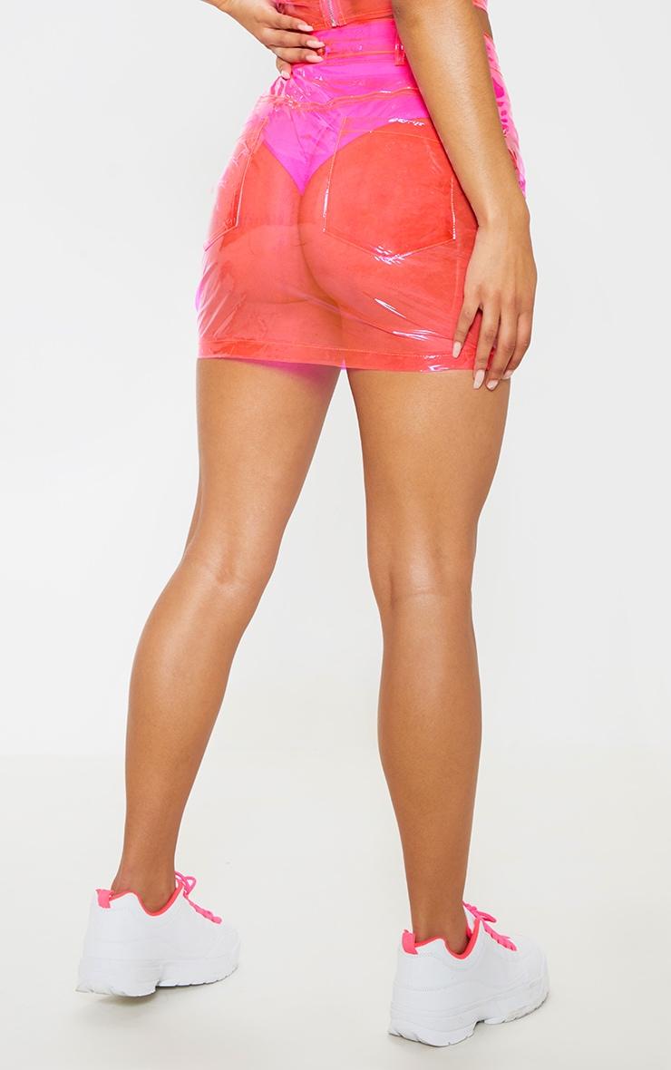 Hot Pink Transparent Mini Skirt 5