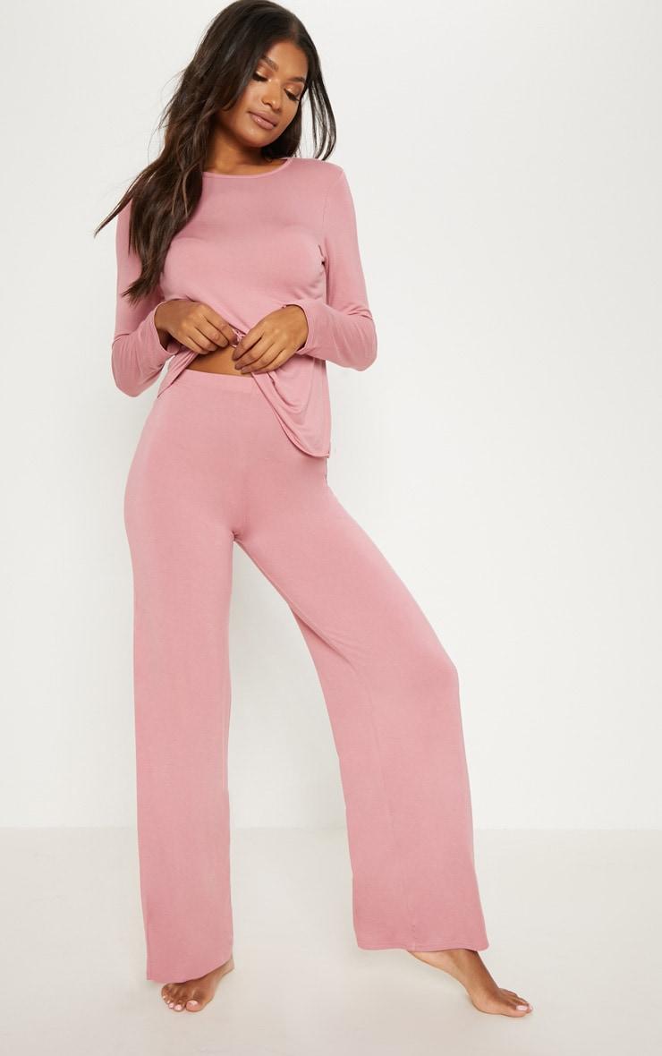 Dusty Pink Mix & Match Pyjama Long Sleeve Top 4