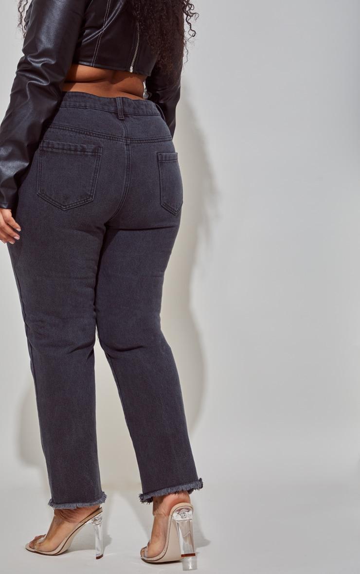 PLT Plus - Jean noir à bordure déchirée 4