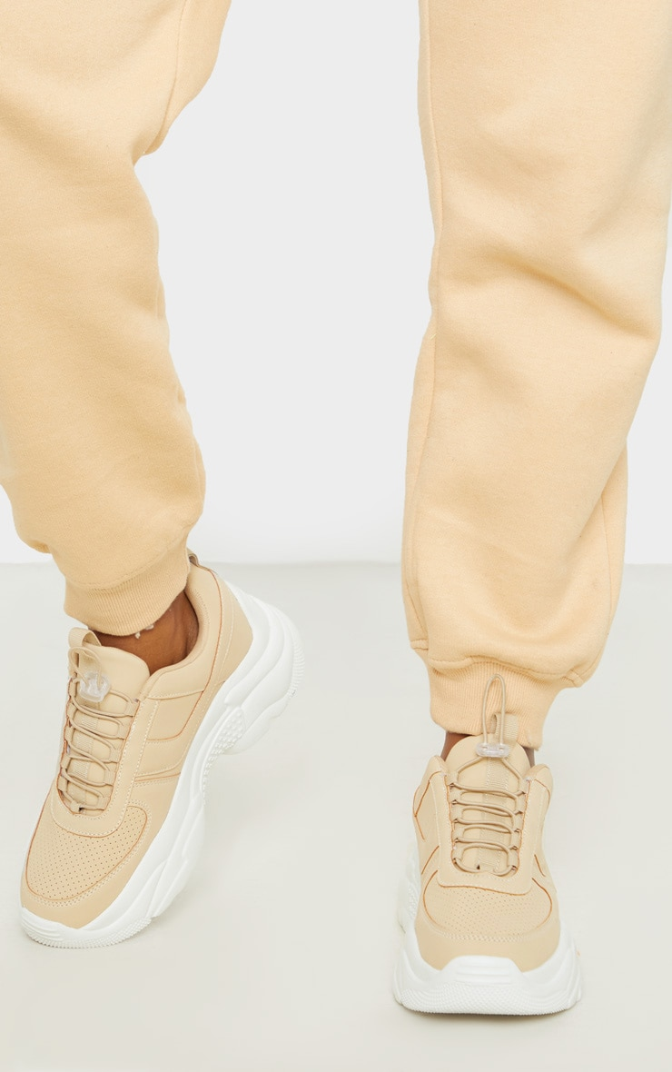 Sand High Arch Chunky Sole Trainer 3