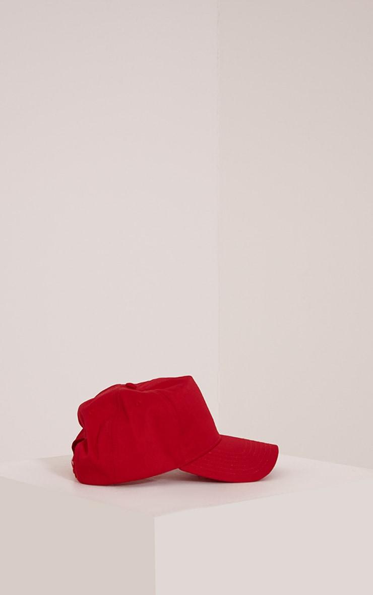 Carlita Red Trucker Cap 3