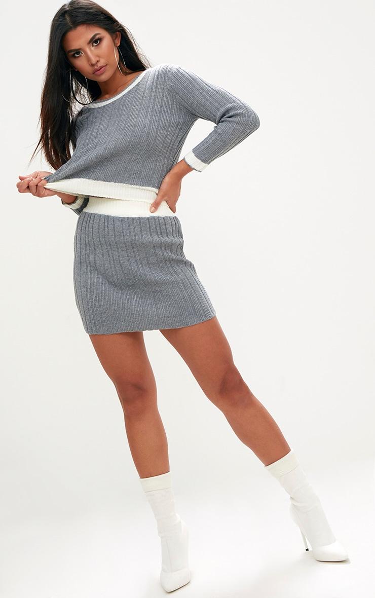 Grey Tipped Skirt Set 4