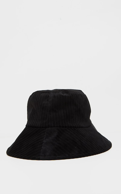 Black Cord Effect Bucket Hat