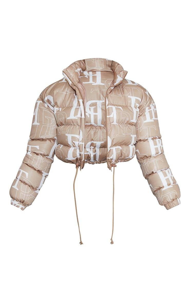 PRETTYLITTLETHING Stone Crop Puffer Jacket 5