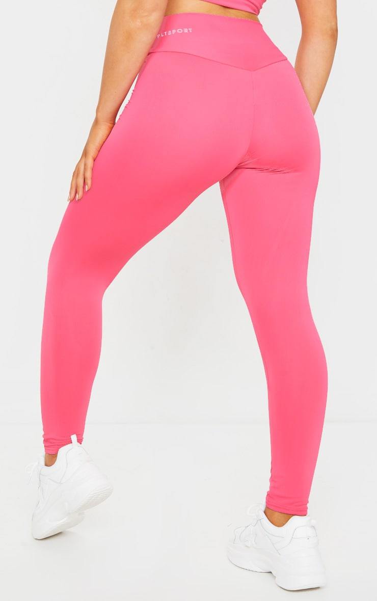 PRETTYLITTLETHING Hot Pink Sport High Waisted Gym Leggings 3