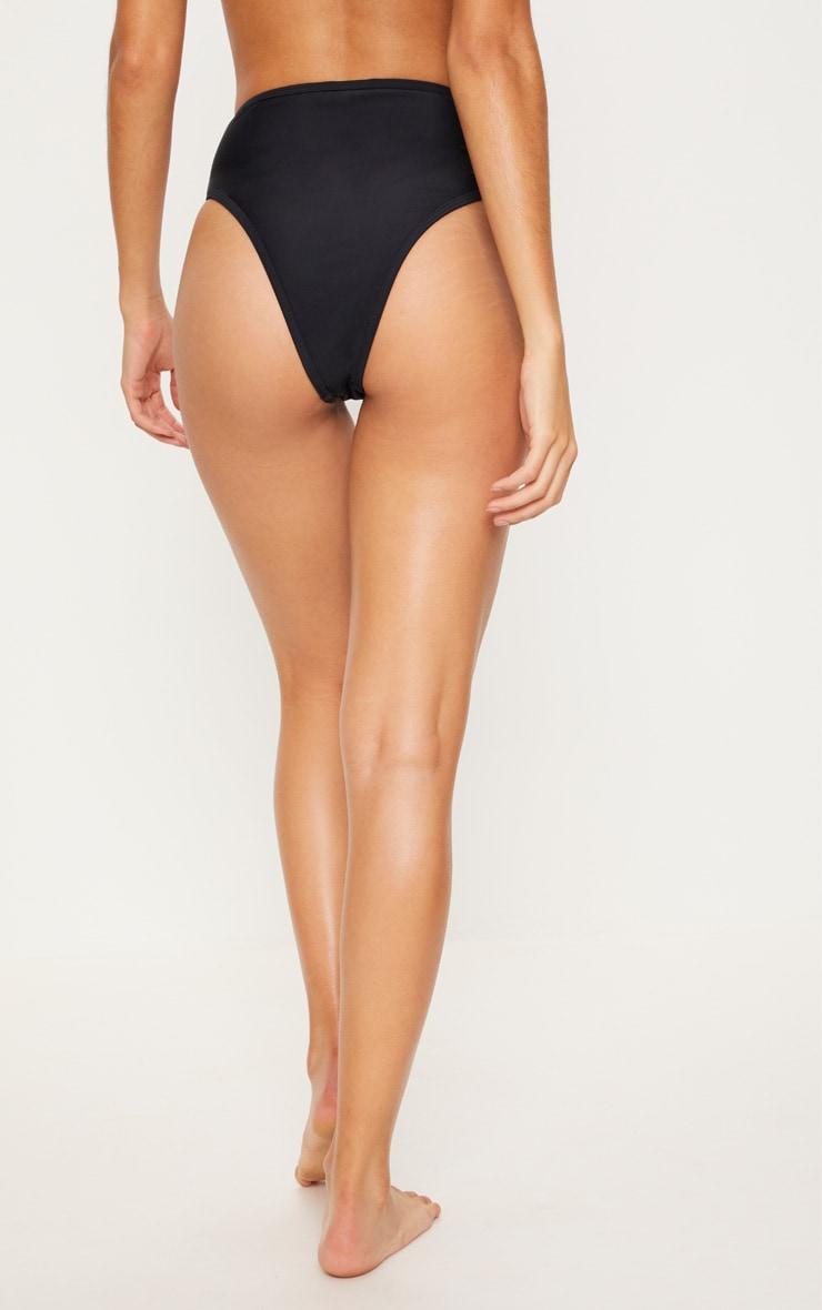 Black High Leg Bikini Bottom 4