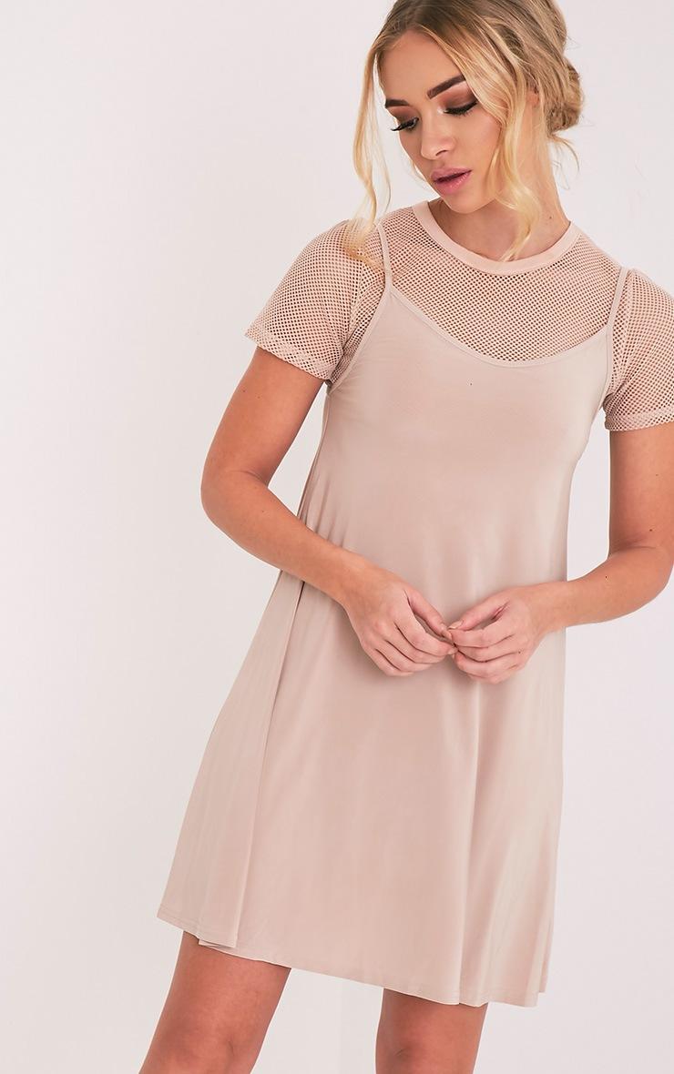 Abby Nude Slinky Swing Dress 1