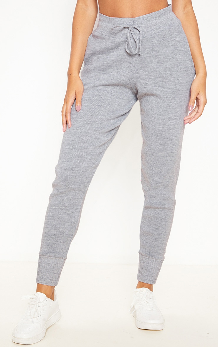 Grey Knitted Jogger 2