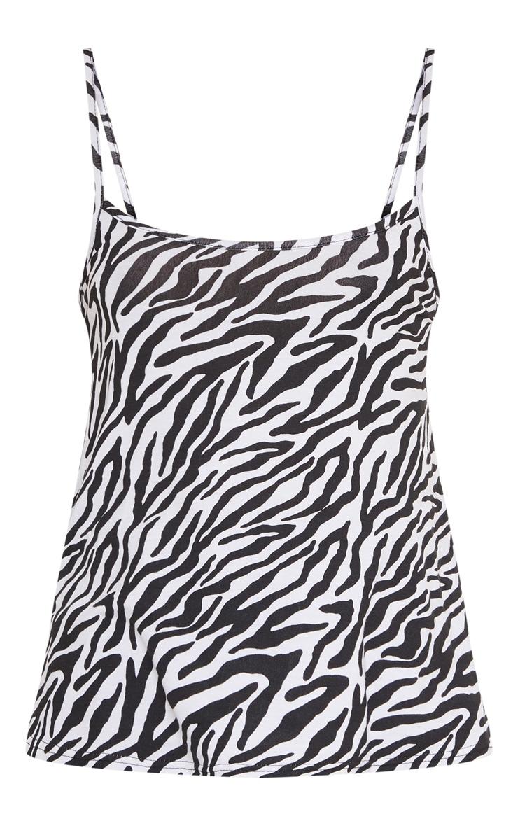 Monochrome Zebra Print Cami Top 3