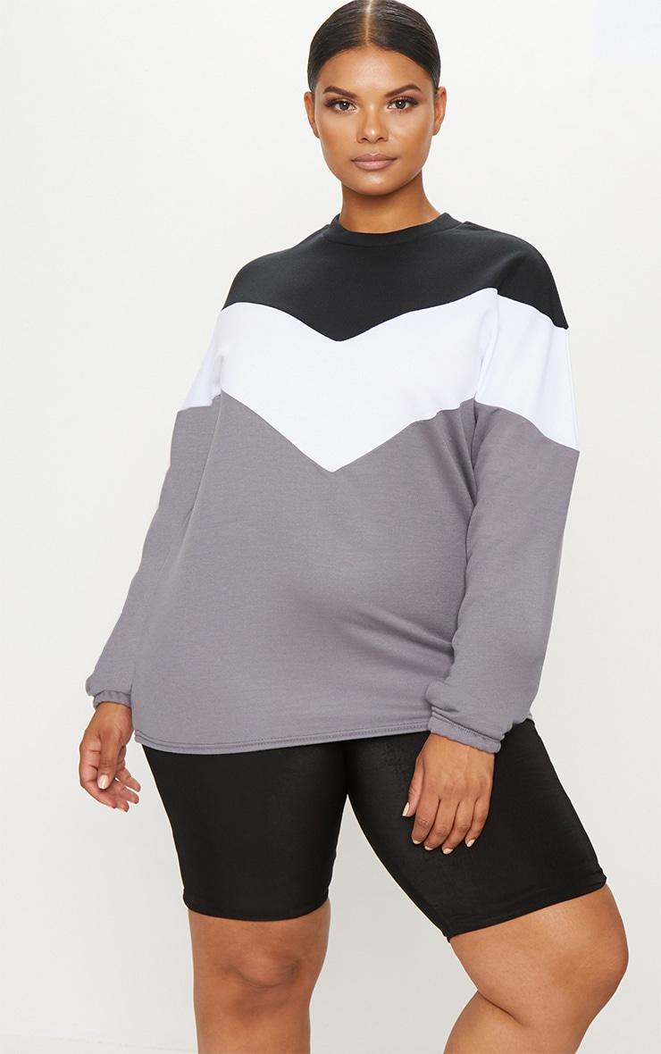 Plus Black Chevron Sweater 1