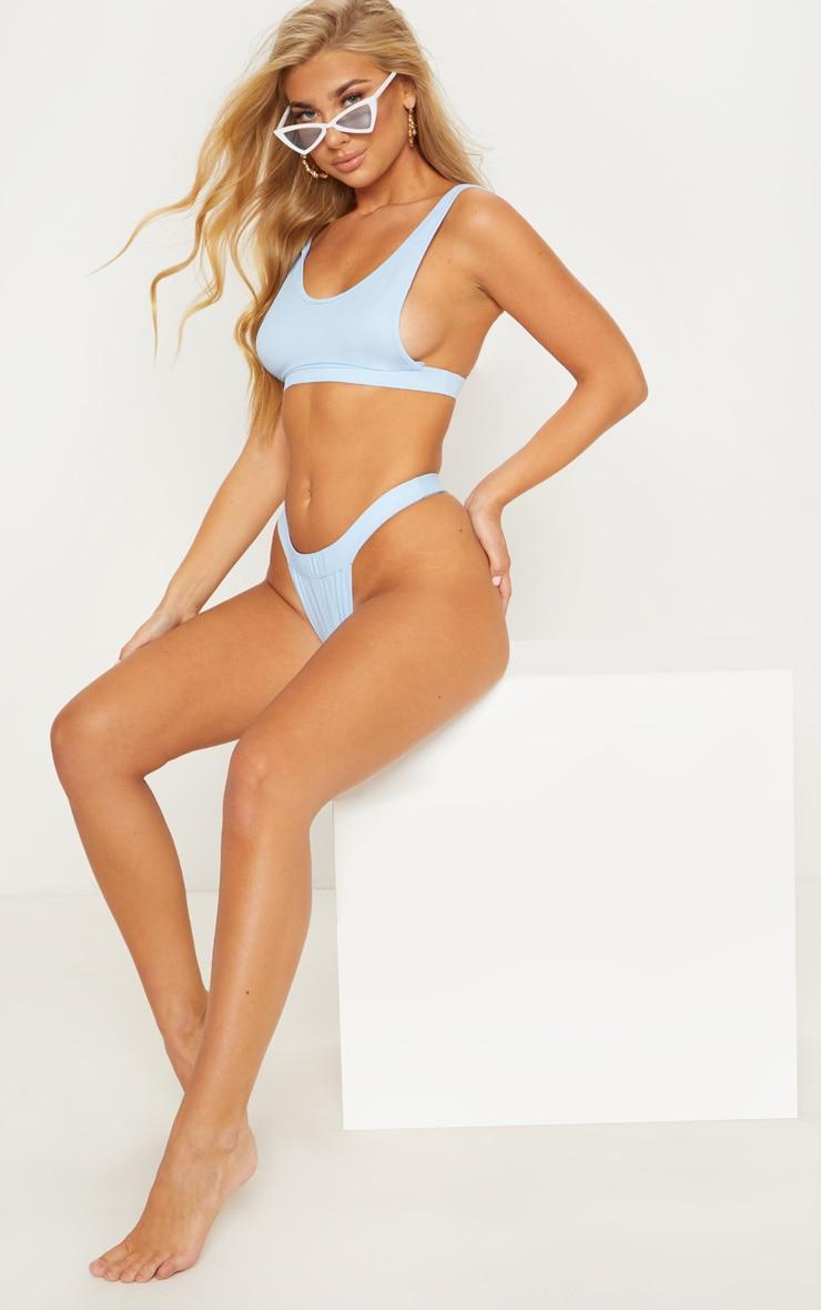 Dusty Blue High Leg Bikini Bottom 5