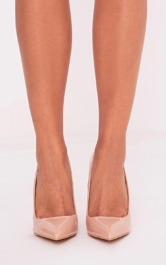 Karinna Nude Patent Pointed Heels 3