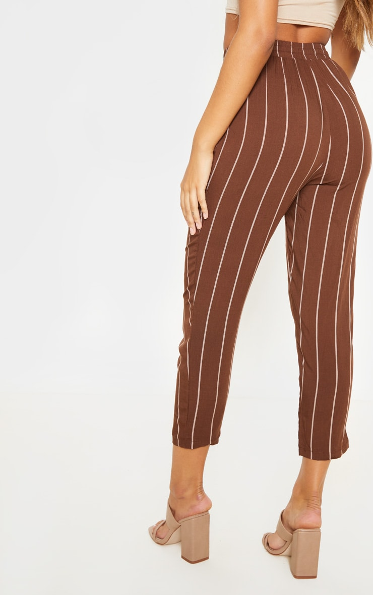 Chocolate Pinstripe Casual Pants 4
