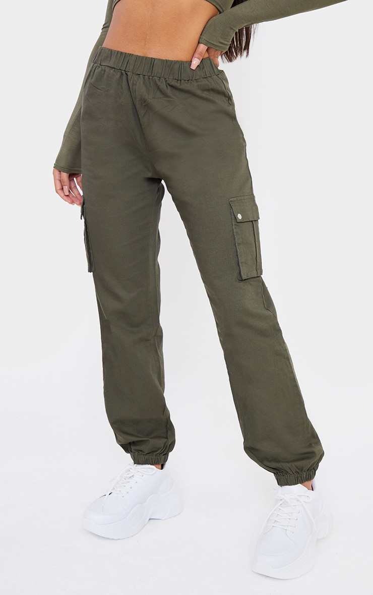 Khaki Pocket Detail Cargo Pants 2