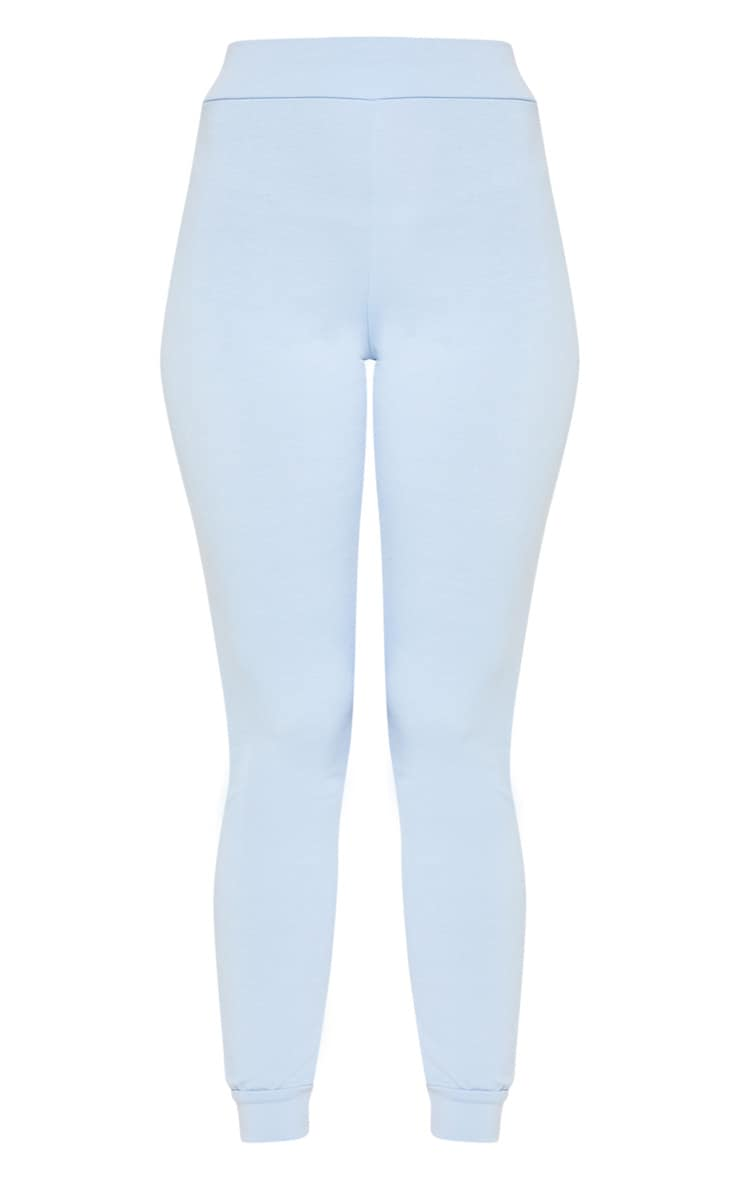 PRETTYLITTLETHING Baby Blue Slim Lounge Jogger 3