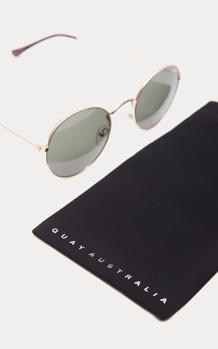 QUAY AUSTRALIA Gold MOD Star Round Sunglasses 4