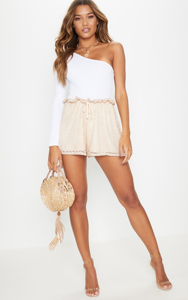 Stone Lace Paperbag Tie Waist Short 5