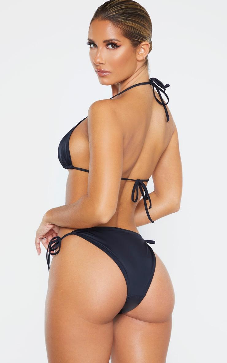 Black Recycled Mix & Match Triangle Bikini Top 2