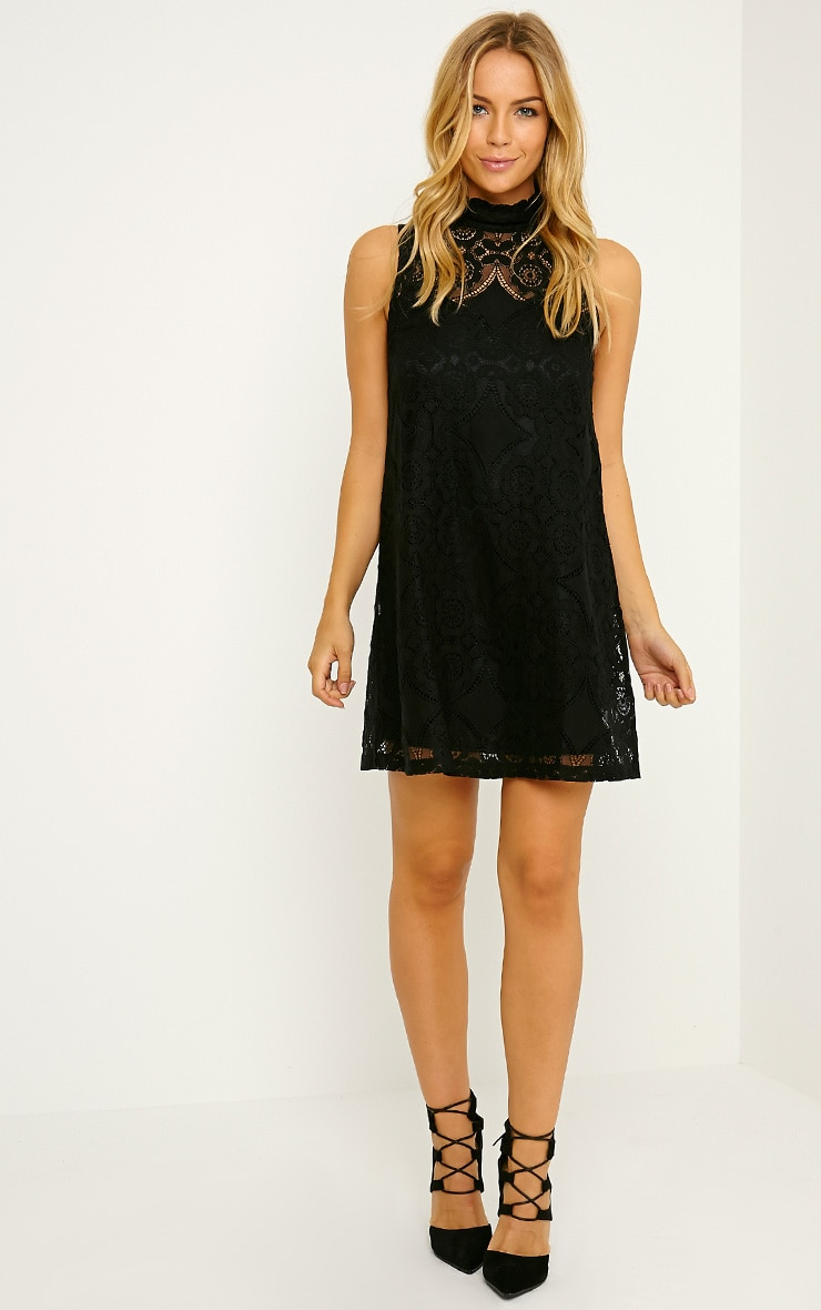 Kelsey Black Lace Shift Dress 3
