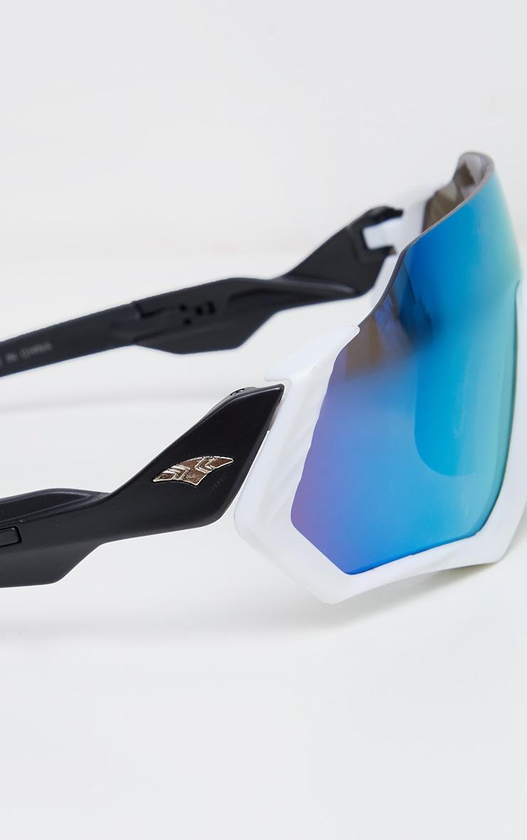 White Revo Lens Sunglasses 4