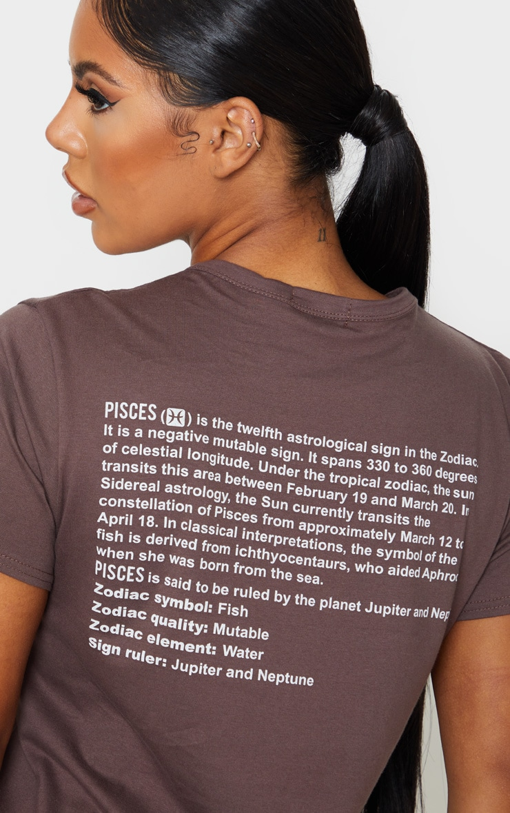 Chocolate Pisces Definition Slogan T Shirt Dress 6