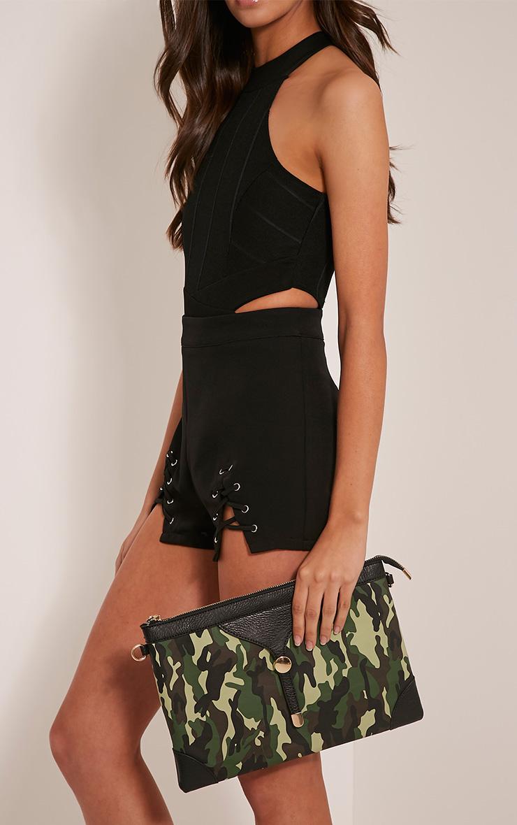 Devin Green Camouflage Clutch Bag 3